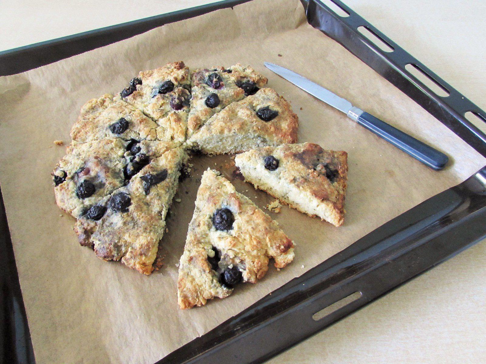 Blueberry Scones ou scones aux myrtilles