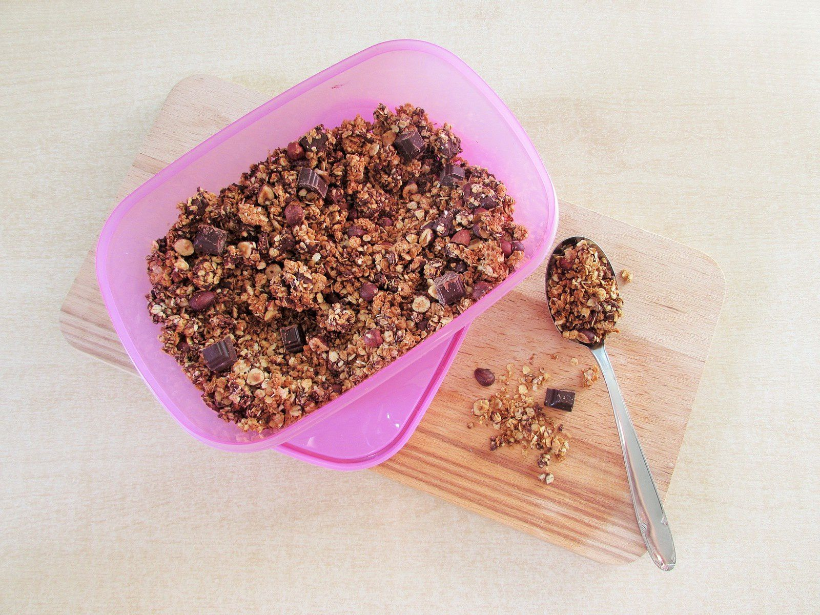 Granola chocolat &amp&#x3B; noisette