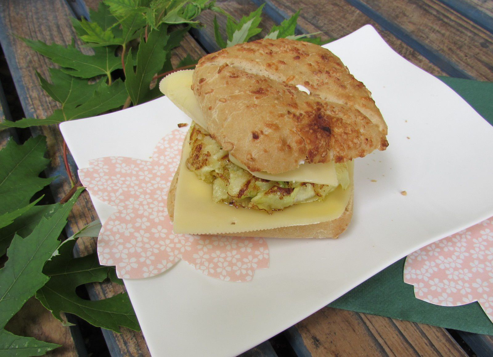 Veggie burger courgette &amp&#x3B; fromage