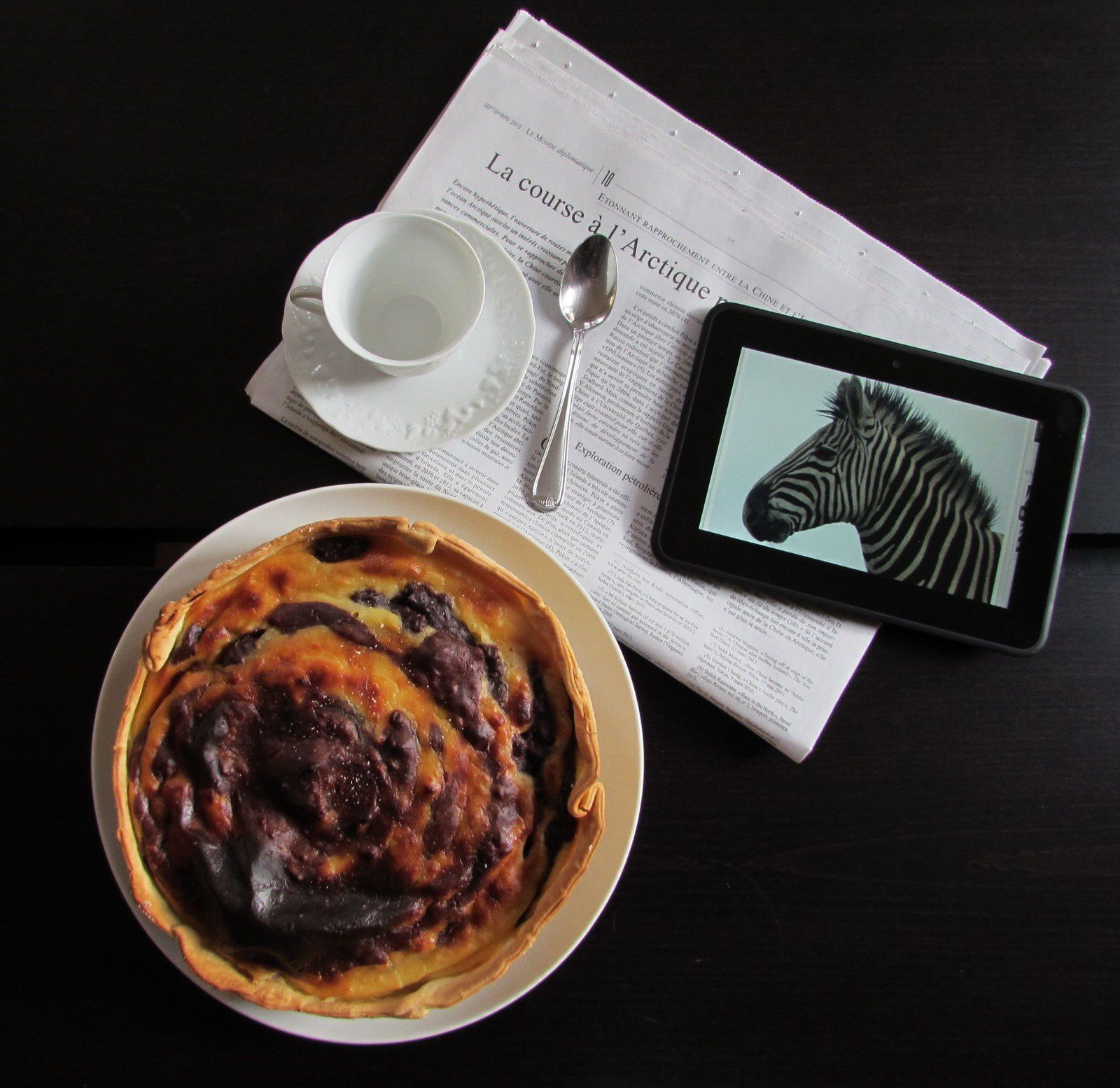 Flan pâtissier zébré