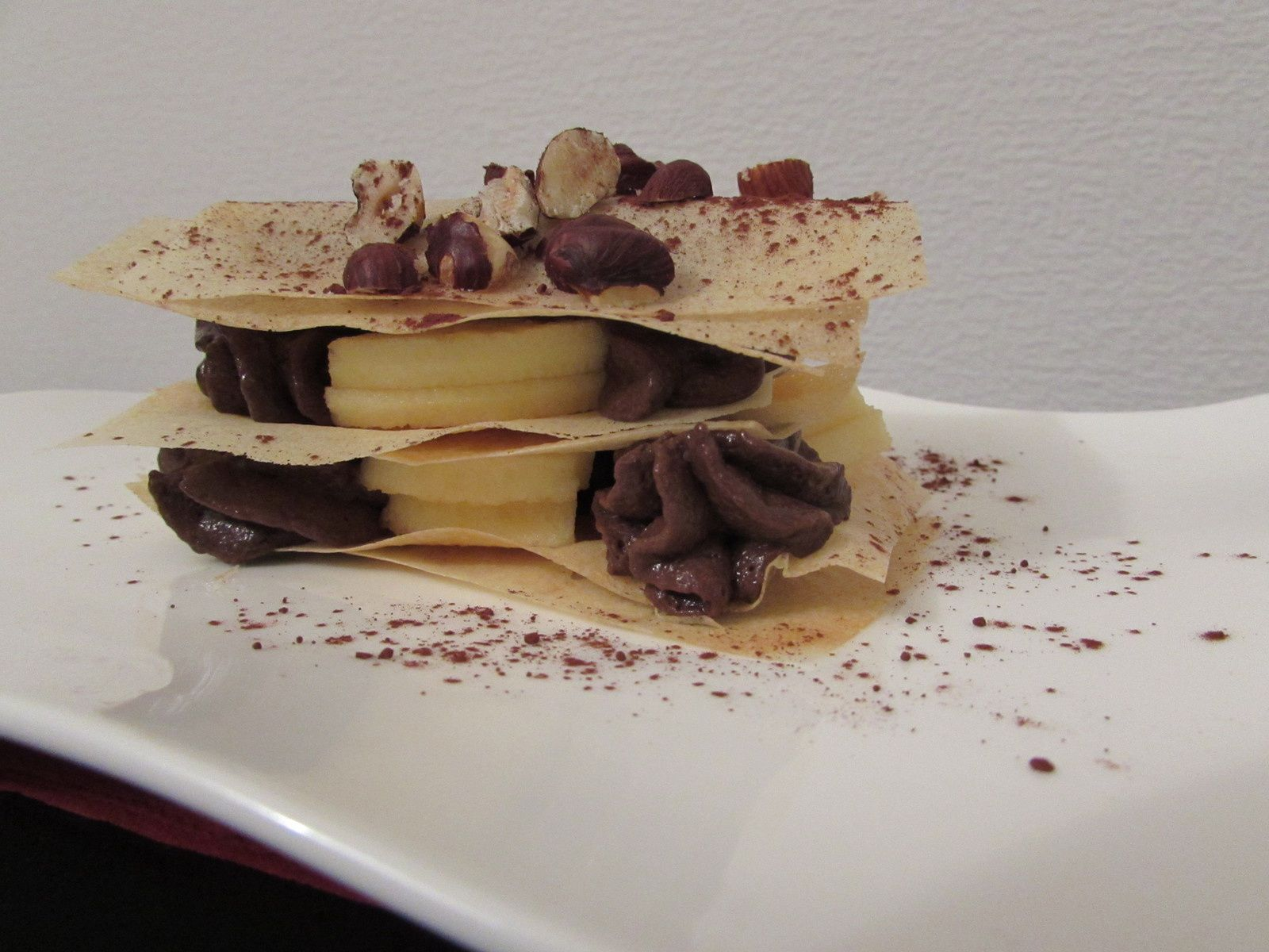 Mille-feuille pomme-chocolat #express