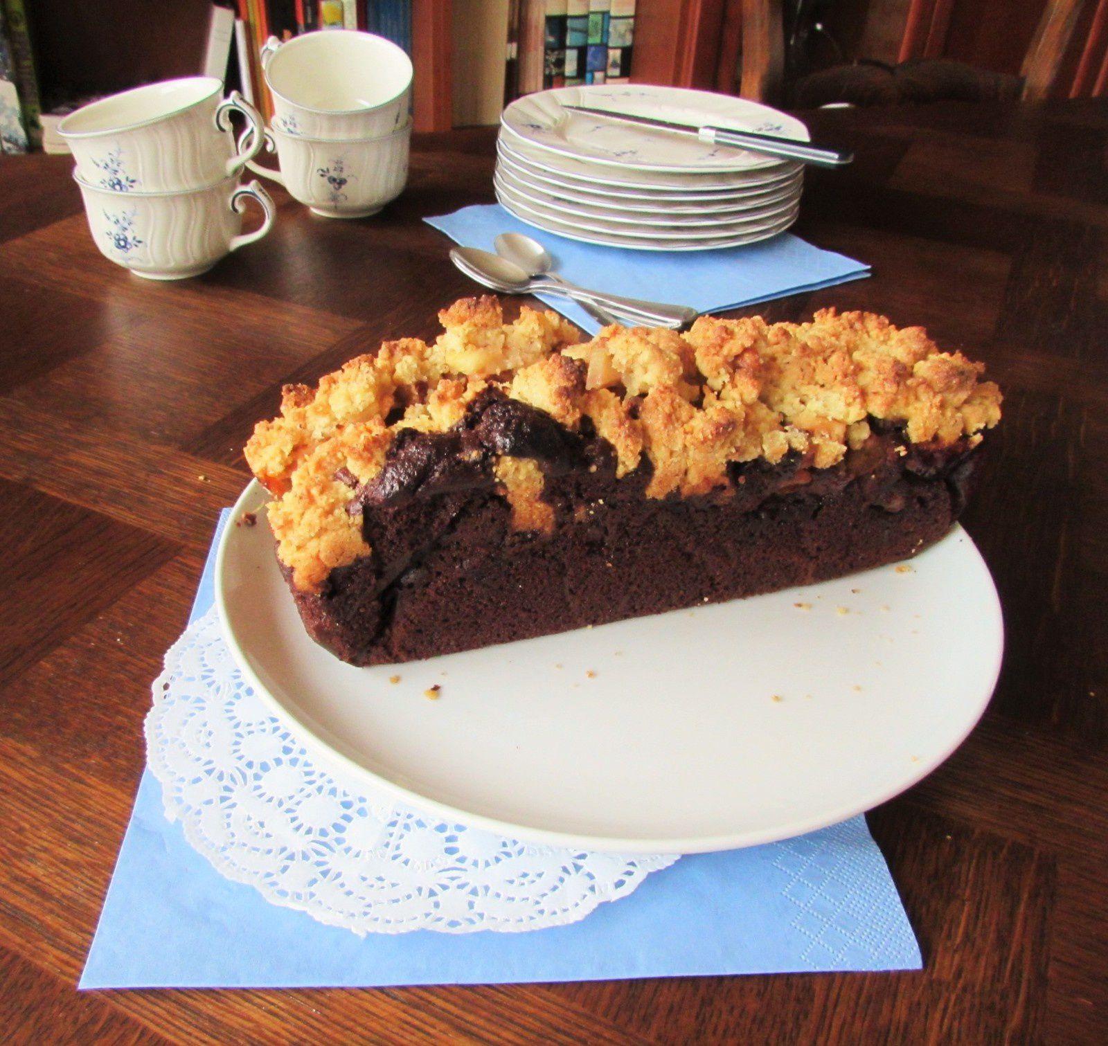 Crumb cake choco-pomme-noisette
