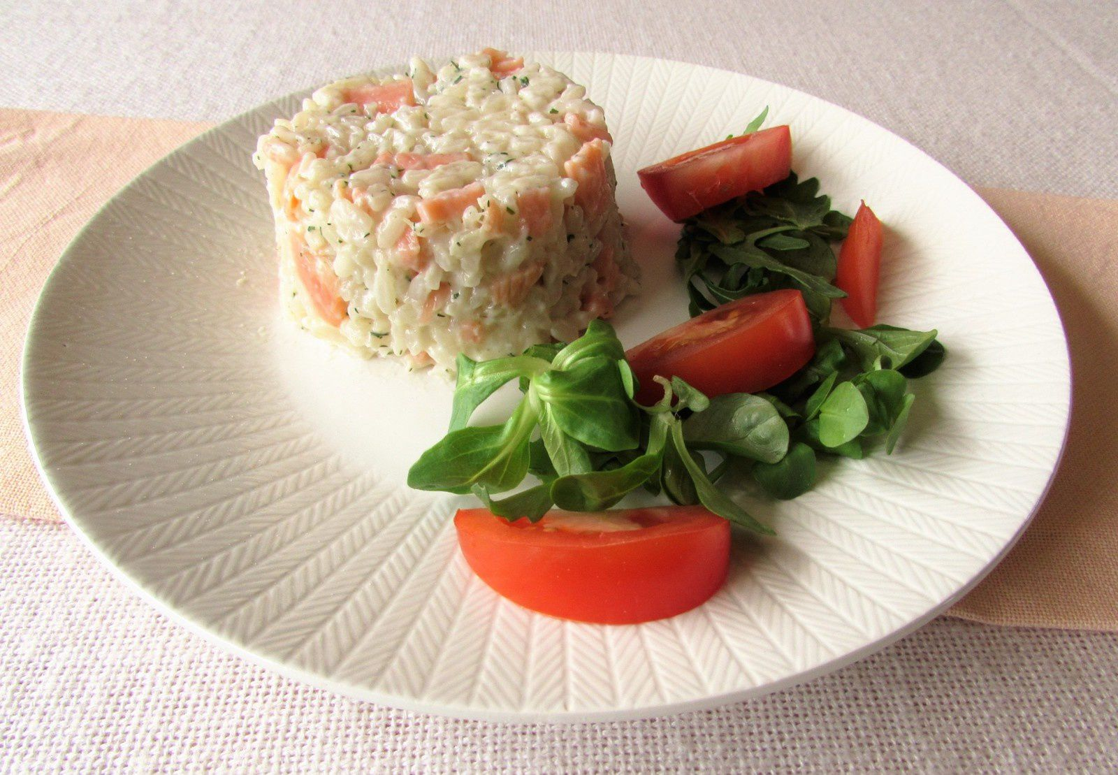 Risotto au saumon, fromage frais &amp&#x3B; aneth