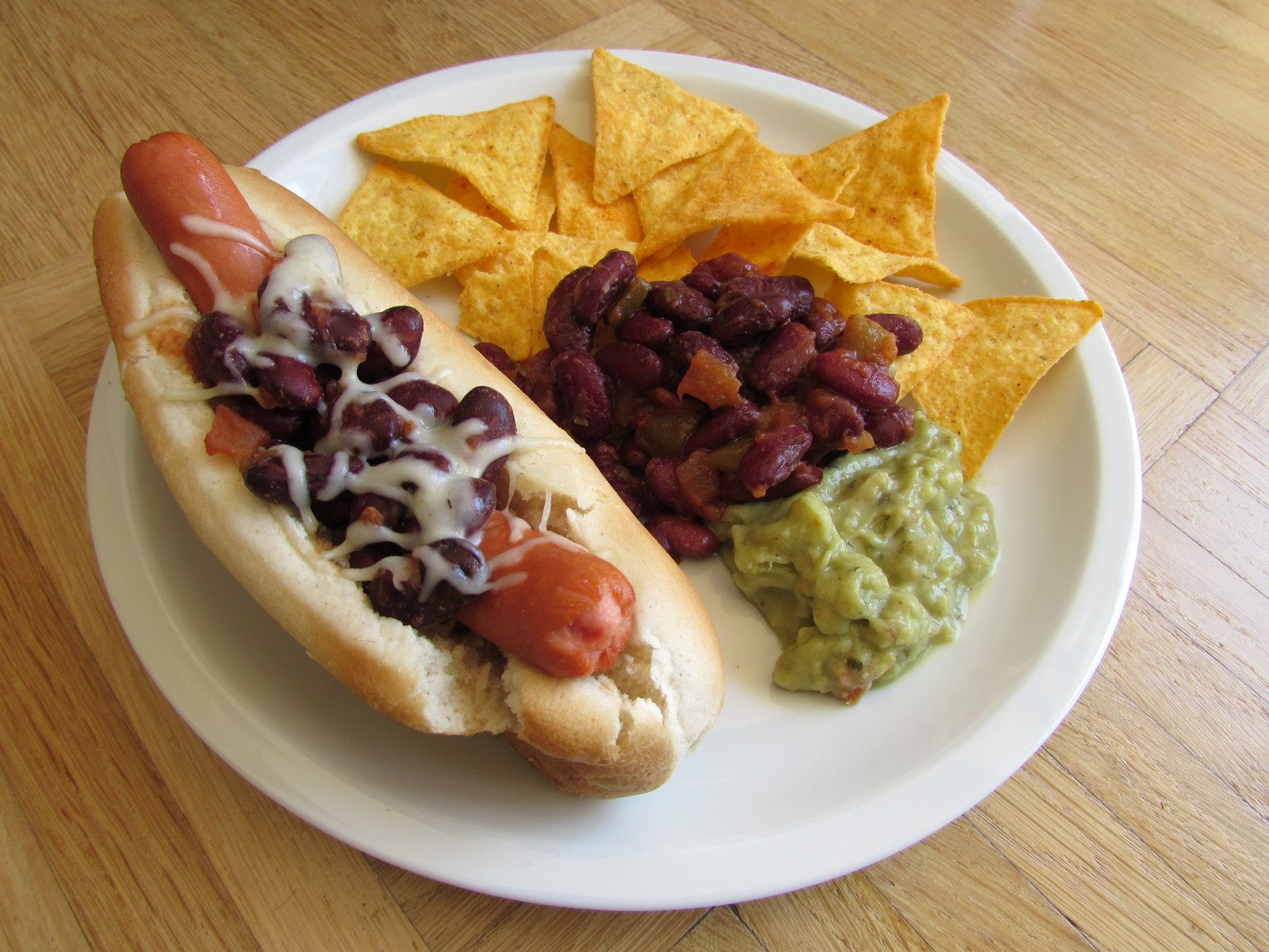 Hot dog mexicain
