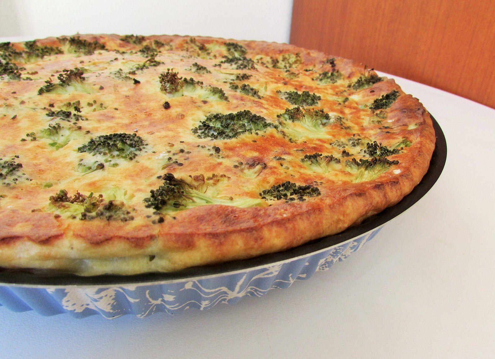 Quiche sans pâte brocolis, petits pois &amp&#x3B; parmesan