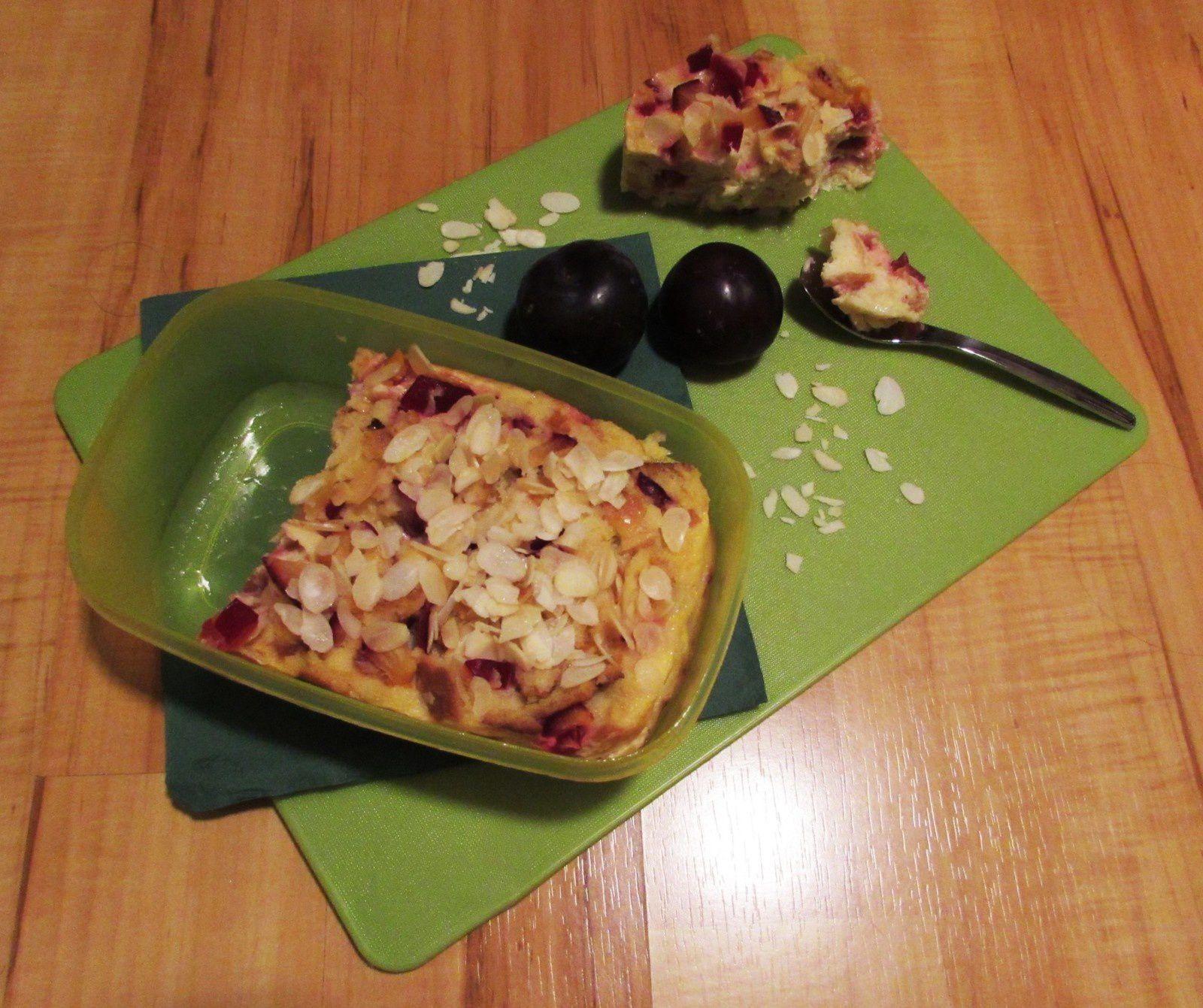 Pudding au micro-onde &amp&#x3B; aux prunes