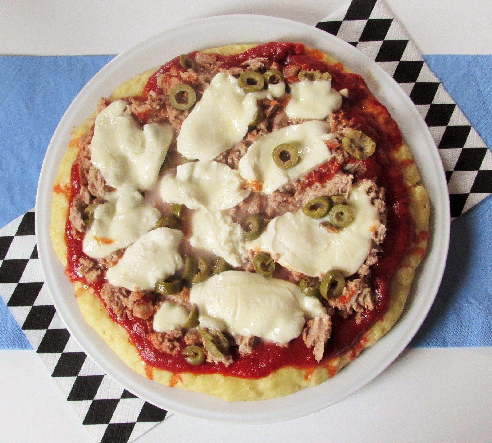 Pizza à la poêle - version pâte à pain -