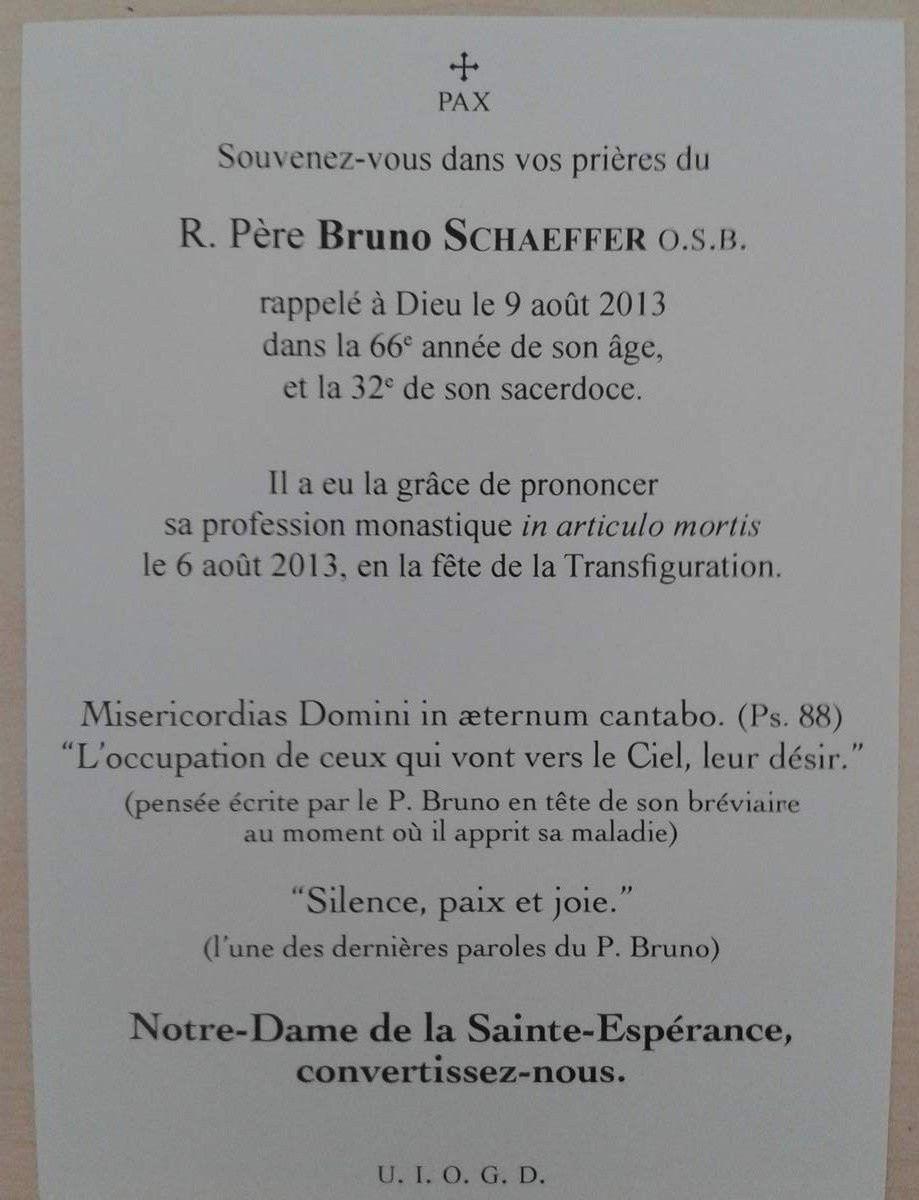 Abbé Bruno Schaeffer