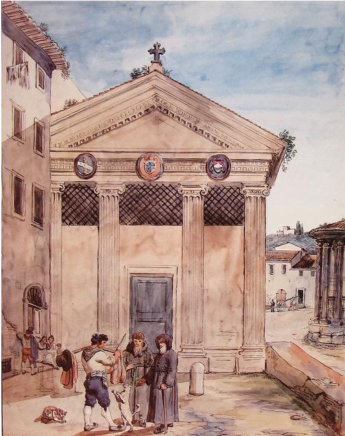 Eglise détruite de Rome: Sainte Marie L'Egyptienne