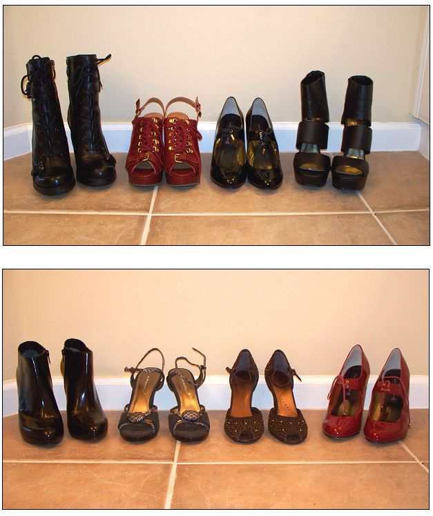 She had two loves, and lots o' shoes!