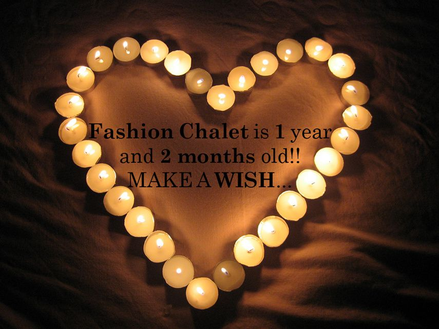 Fashion Chalet turns 1 year old.. and 2 months!
