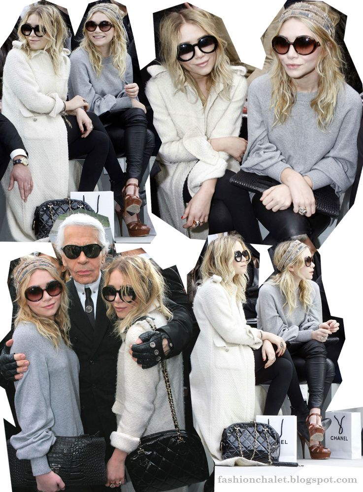My Favorite Mary Kate and Ashley Olsen Fashion Moment! - at Chanel Fall/Winter 08/09