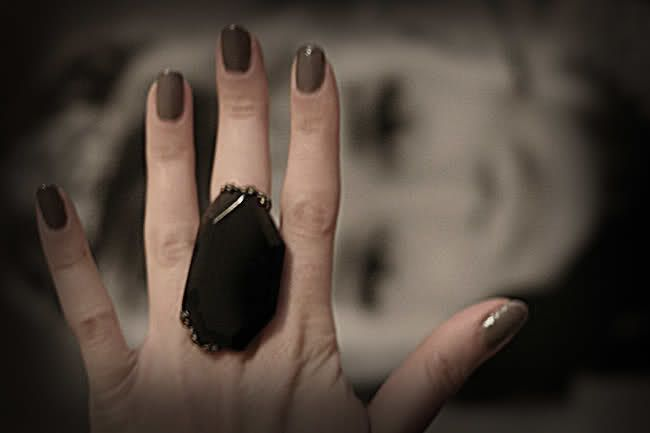 fashion ring, agate stone, audrey hepburn