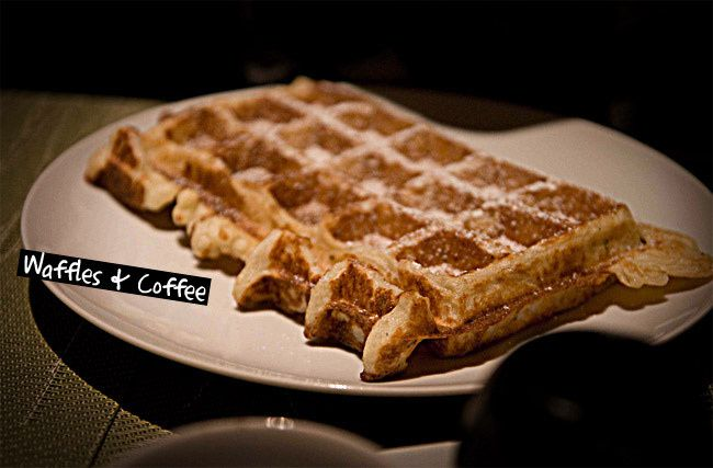 Waffles, breakfast, coffee