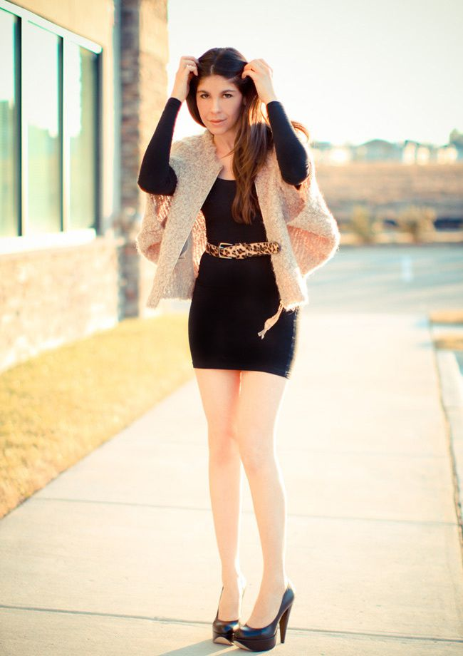 American Apparel body con, Little Black Dress, Aldo heels
