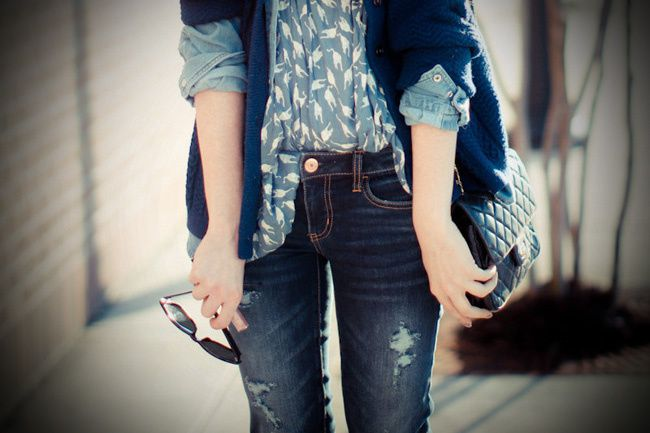 Chanel bag, American Eagle jeans, Miu Miu fashion