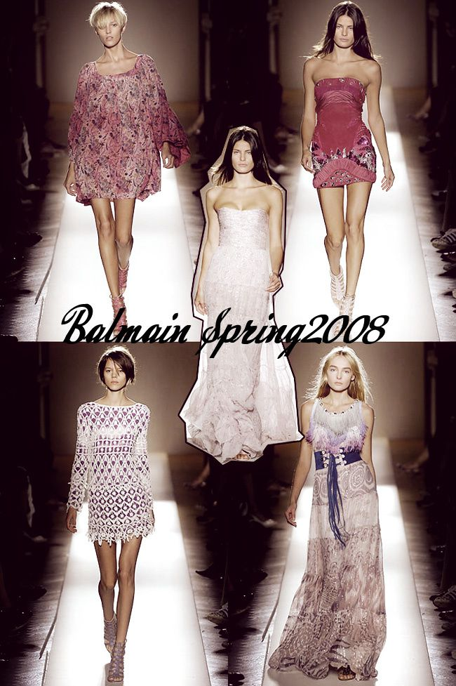 Balmain Spring Summer 2008 Ready To Wear, Paris Fashion Week