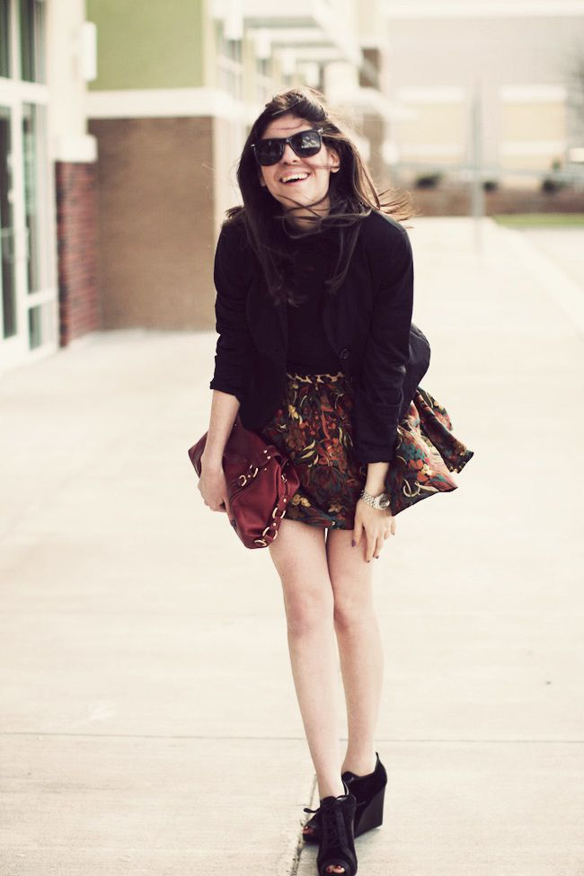 Vintage skirt, Leopard belt, Urban Outfitters, James Perse Turtleneck, Pierre Hardy Gap wedges