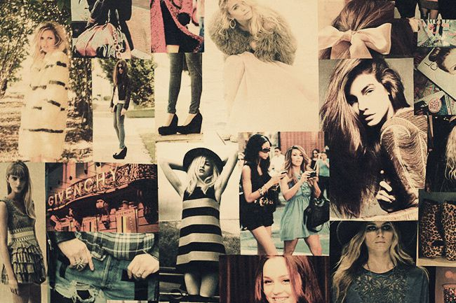 Fashion mood board, Collage, Poster board