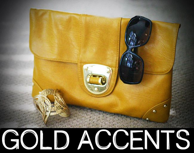 Asos Yellow Oversize Clutch, LOFT Gold Cuff, Halston Sunglasses, Fashion photography