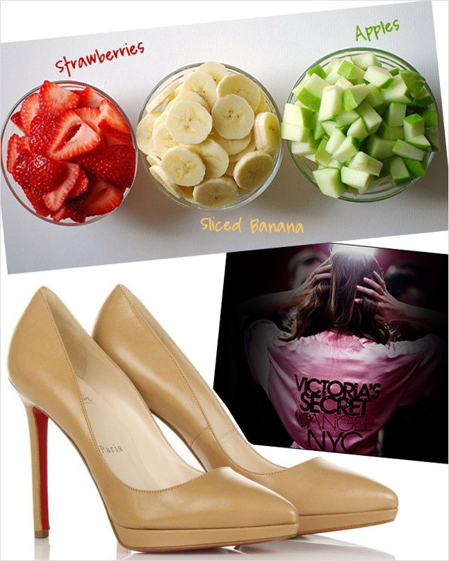 Christian Louboutin Pigalle 120 Shoes, Victoria's Secret Fashion Show, Fashion Collage