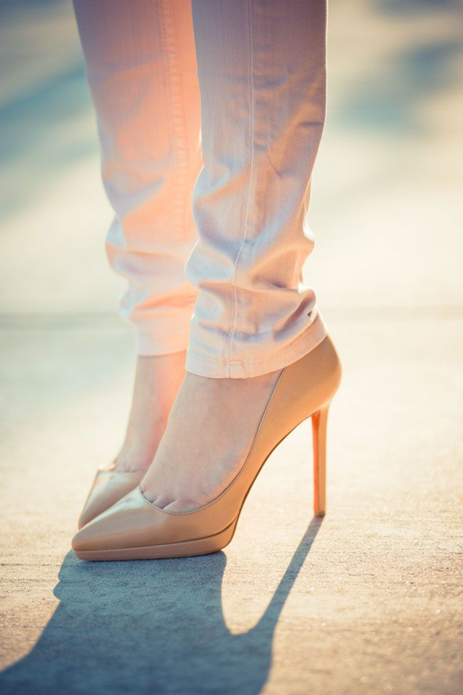 Christian Louboutin Pigalle 120 Patent Pumps, Nude Christian Louboutin Shoes, Christian Louboutin Heels, Red Sole Louboutin Shoes