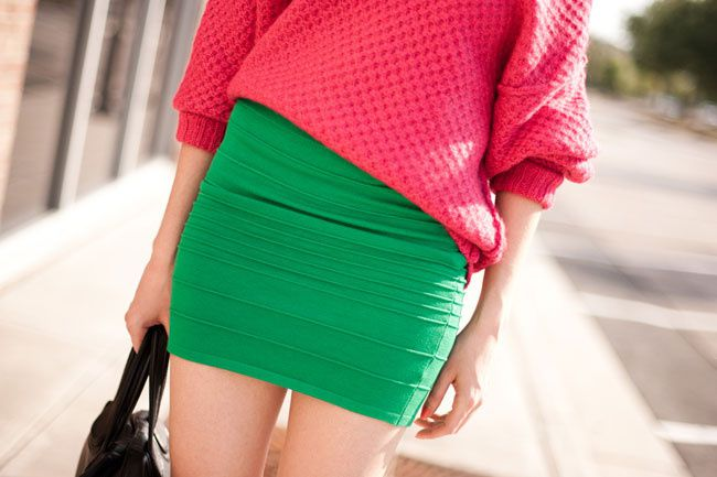 Color Block Fashion, Hot Pink Sweater, Givenchy, Asos Pumpkin Pumps