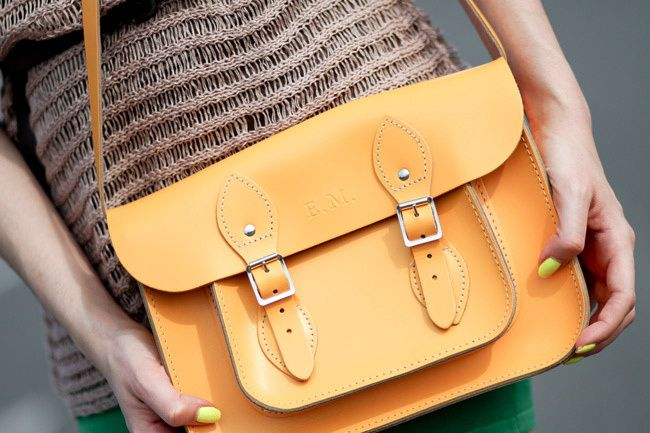 Yellow Leather Satchel bag Fashion