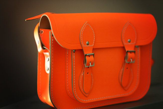 Neon Cambridge Leather Satchel