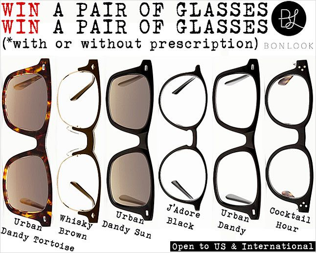 Bonlook glasses, Fashion sunglasses, Win prescription eyeglasses, giveaway
