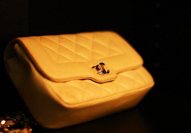 Jerry Hall Vintage Chanel bag, Yellow Chanel, Fashion