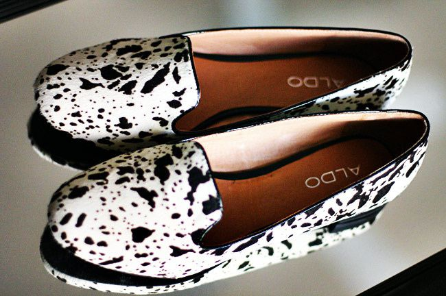 Aldo pony hair Dalmatian slippers, Fashion, Shoes, Flats, Loafers