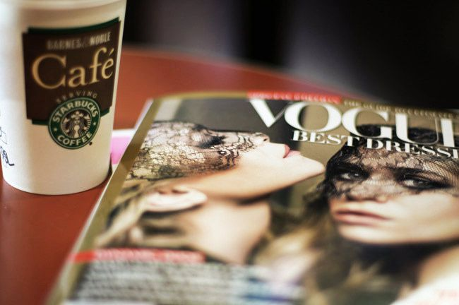 Olsen Vogue Best Dressed, Starbucks Pumpkin Spiced Latte, coffee, Mary Kate Ashley Olsen
