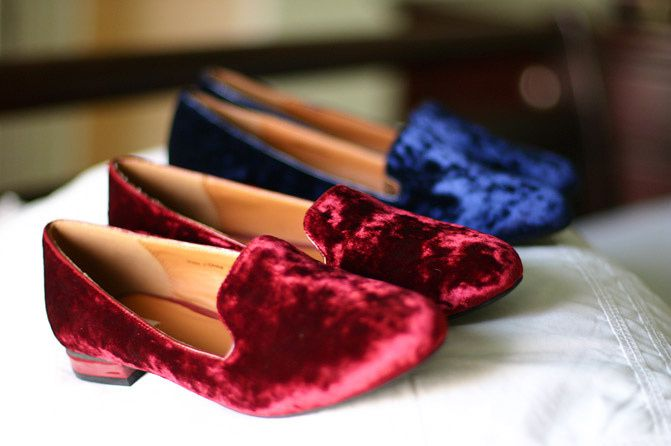 """ NEW IN "" Velvet Loafers in Jewel Tones"
