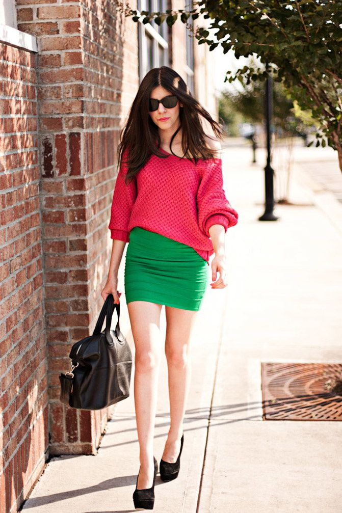 Color blocking, Body con