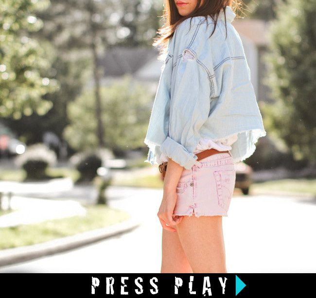 """ VIDEO "" Pink Shorts Inspired by Isabel Marant"
