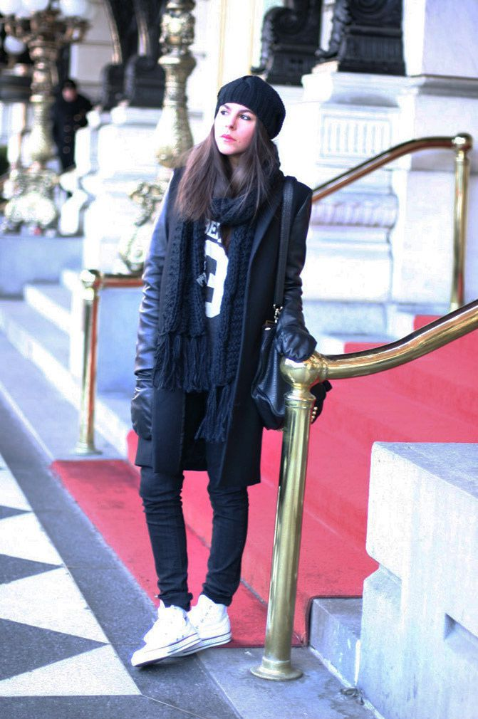 Plaza Hotel New York, Zara coat, Fashion, Converse, Alexander Wang Rocco duffel, outfit