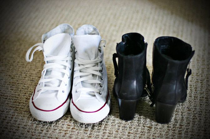""" SHOES "" Converse and Topshop"