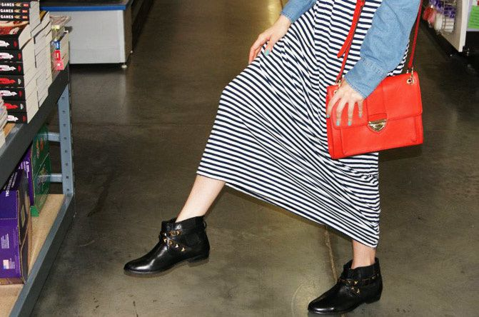 maxi dress, studded ankle boots, asos, the hunger games, banana republic