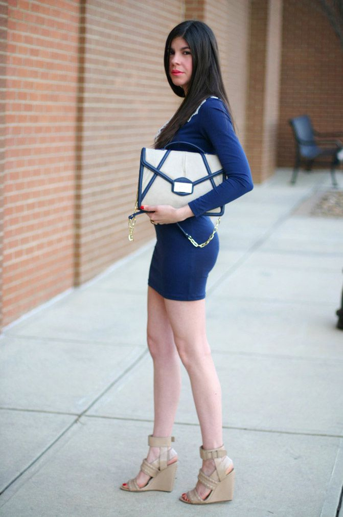 Alexander Wang wedges, Motel rocks body con dress, Fashion, outfit