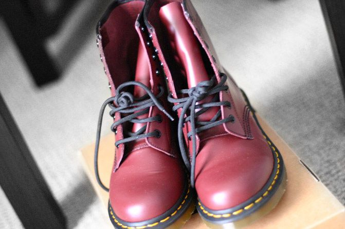 """ NEW IN "" Cherry Red Dr. Martens"
