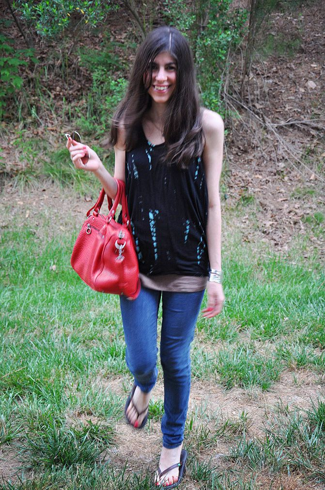 sanuk sandals, lancaster paris bag, karen london jewelry, fashion, outfit