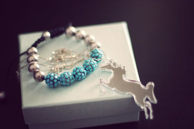 Jewelry, Turquoise, silver unicorn, red hamsa, fashion
