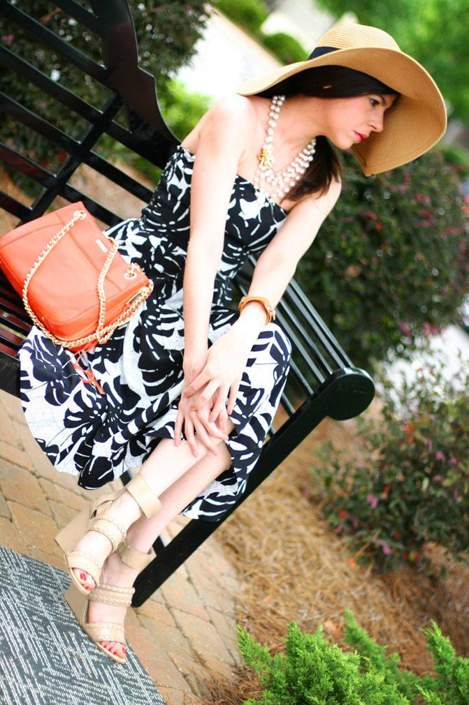 Sundress, Brasil, Sun hat, Alexander Wang nude wedges sandals, Fashion