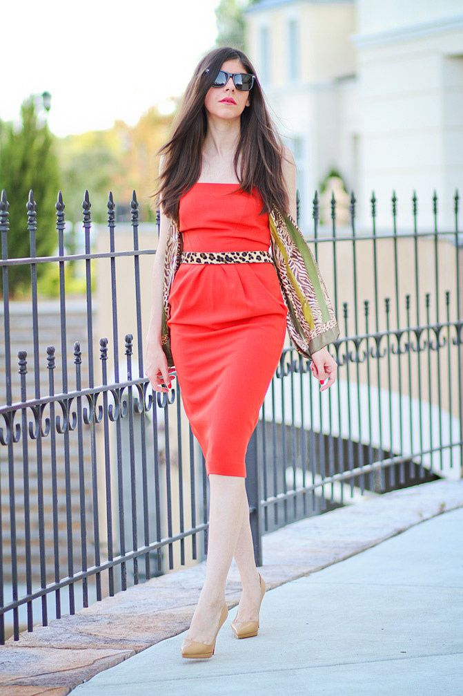 Christian Louboutin Pigalle, Marc by Marc Jacobs henry gold watch, Fashion, red dress, outfit