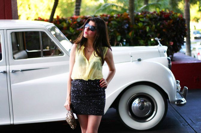 Layering Sequins in Miami Beach