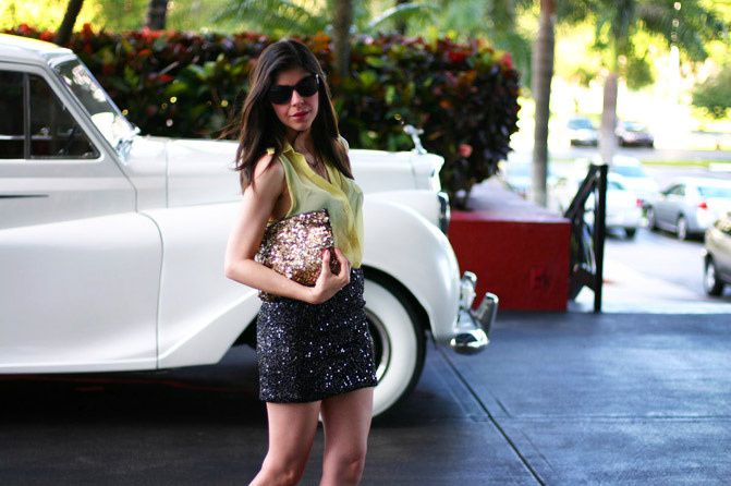 Miami Beach Fashion Week, Alexander Wang wedges, Zara sequins, Fashion, Outfit