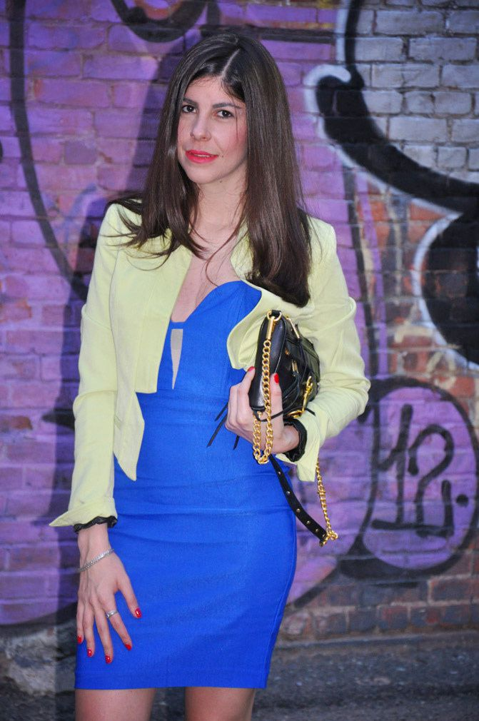 LuLus fluorescent fashion, New York fashion week, W Hotel, Zara shoes, Marie Claire magazine, E!