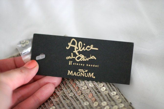 alice and olivia fashion magnum ice cream, holiday fashion, gift box