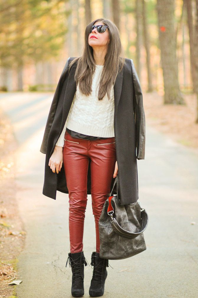 Zara Coat, Fringe and Leather Fashion, Outfit, Fall Fashion